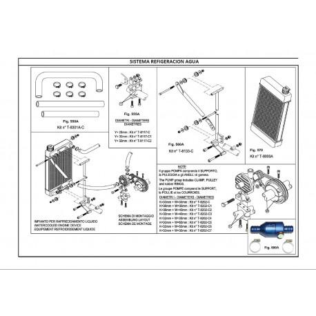 REF.560A KIT SOPORTE RADIADOR X30 410x230